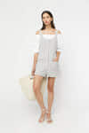 Romper 22772019 Cream Navy Stripe 1