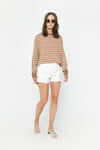 Sweater 3662 Tan Stripe 1
