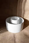 Wide Ceramic Planter 2947 White Speckeled 4
