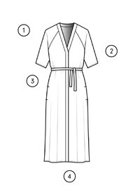 FLORAL DRESS 4351 measuring guide thumbnail