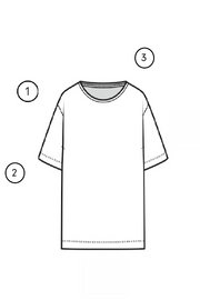 GRAPHIC TSHIRT 3312 measuring guide thumbnail