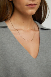20 Long Unclasped Silver Colored Necklace Chain