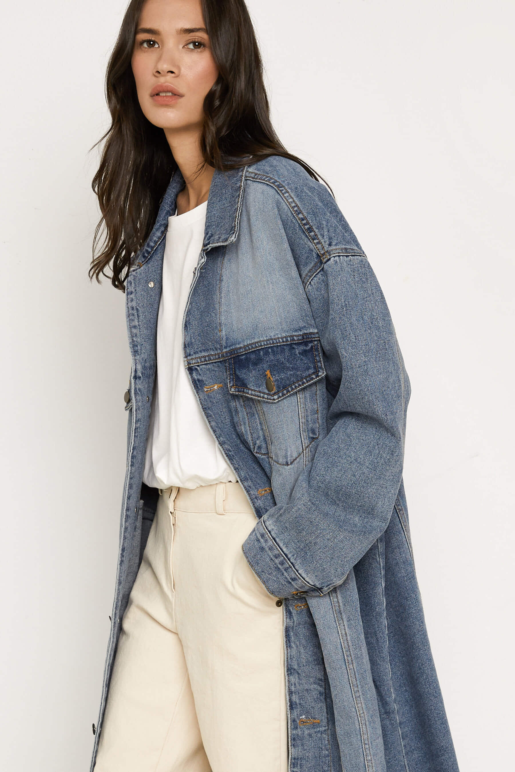 Denim Jacket K021 by Oak + Fort